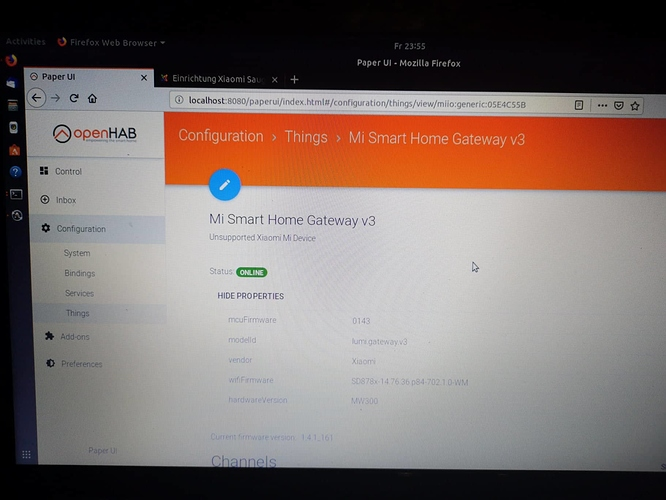 SOLVED] Openhab2 - Xiaomi Mi Gateway - does not respond