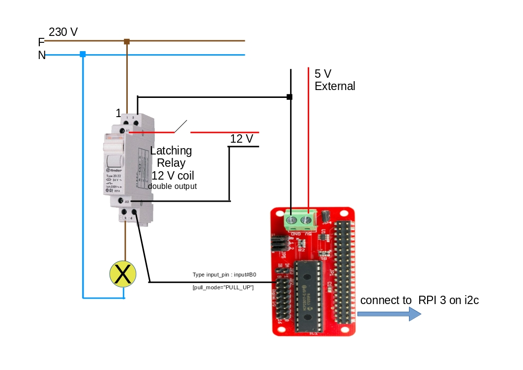 SOLVED] Know lamp state from his latching relay - Items ... on latching relay circuit diagram, 8-pin ice cube relay, latching control diagram, 12 volt latching relay diagram, light switch double pole wiring diagram, 8-pin relay retainer,